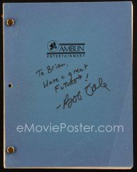1a016 BACK TO THE FUTURE signed revised fourth draft script October 12, 1984, by Bob Gale!