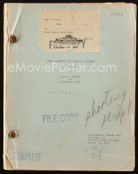 1a018 BARRETTS OF WIMPOLE STREET script March 20, 1934, screenplay by Ernest Vajda & Claudine West