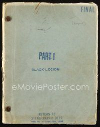 1a023 BLACK LEGION revised final draft script August 1, 1936, screenplay by Finkel, Haines & Lord!