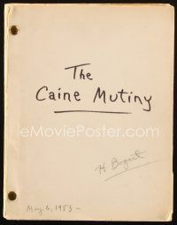 1a030 CAINE MUTINY signed revised final draft script May 6, 1953, by director Edward Dmytryk!