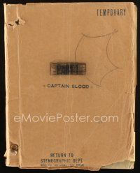 1a032 CAPTAIN BLOOD script February 13, 1935, screenplay by Casey Robinson, Michael Curtiz!