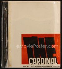 1a033 CARDINAL script November 11, 1962, screenplay by Robert Dozier, directed by Otto Preminger!
