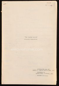 1a034 CHAPMAN REPORT dialogue transcript script August 10, 1962, screenplay by Cooper & Mankiewicz!