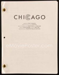 1a037 CHICAGO script 2002 screenplay by Bill Condon, Best Picture Academy Award winner!