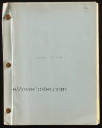 1a038 CHILD OF WAR script '70s Israeli War of Independence, unproduced screenplay by Burt Topper!