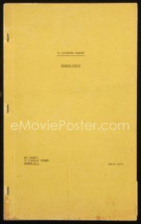 1a042 CLOCKWORK ORANGE release English script March 1972, screenplay by Stanley Kubrick!