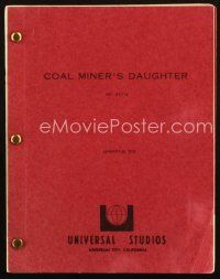 1a043 COAL MINER'S DAUGHTER script January 25, 1979, screenplay by Thomas Rickman, Michael Apted!