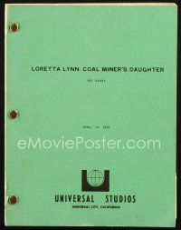 1a044 COAL MINER'S DAUGHTER revised first draft script April 19, 1978, screenplay by Thomas Rickman