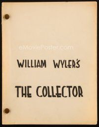 1a045 COLLECTOR revised final draft script April 30, 1964, screenplay by Stanley Mann & John Kohn
