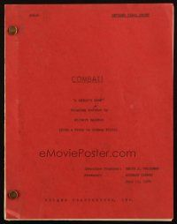 1a046 COMBAT! revised final draft TV script July 19, 1966, screenplay by Gilbert Ralston!