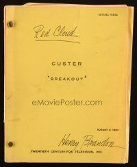 1a048 CUSTER revised final TV script August 3, 1967, screenplay by Shimon Wincelberg, Breakout!