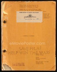 1a051 DANGEROUS PARTNERS script June 8, 1943, screenplay by Marion Personnet!
