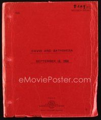1a052 DAVID & BATHSHEBA revised final script September 12, 1950, screenplay by Philip Dunne!