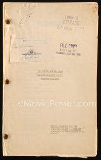 1a060 DR. JEKYLL & MR. HYDE release dialogue script Dec 29, 1931, screenplay by Hoffenstein & Heath