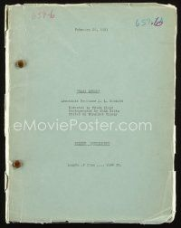 1a061 EAST LYNNE screen continuity script February 26, 1931, screenplay by Bradley King & Tom Barry