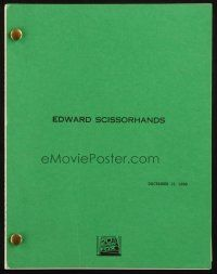 1a062 EDWARD SCISSORHANDS revised draft script December 15, 1989, screenplay by Caroline Thompson!