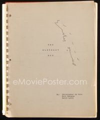1a063 ELEPHANT MAN signed script 1980 by David Lynch, who wrote it with De Vore & Eric Bergren!