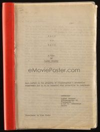 1a065 FACE TO FACE script 1976 screenplay by Ingmar Bergman!