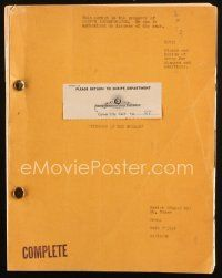 1a071 FINGERS AT THE WINDOW revised OK script script + breakdown Dec 19, 1941, screenplay by Caylor