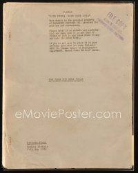 1a074 FOR WHOM THE BELL TOLLS revised final script July 20, 1942, screenplay by Dudley Nichols!
