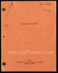 1a078 GLENN MILLER STORY revised final draft script May 8, 1953, screenplay by Valentine Davies!