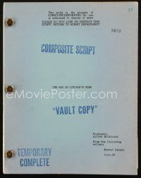 1a144 NORTH BY NORTHWEST composite script script Jul 21, 1958 Hitchcock screenplay by Ernest Lehman