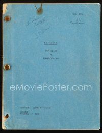 1a167 PSYCHO revised draft script November 10, 1959, screenplay by Joseph Stefano!