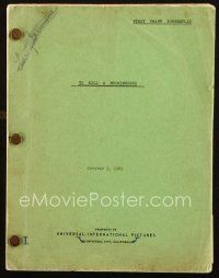 1a215 TO KILL A MOCKINGBIRD first draft script October 3, 1961, screenplay by Horton Foote!
