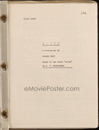 1a011 ALICE first draft script '60s unproduced screenplay by Howard Fast!