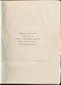 1a064 ENEMIES A LOVE STORY revised script February 1989, screenplay by Roger L Simon & Paul Mazursky