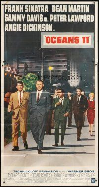 1f147 OCEAN'S 11 3sh '60 Sinatra, Martin, Davis Jr., Dickinson, Lawford, Rat Pack!