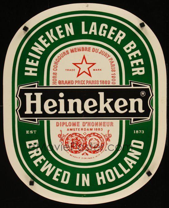 1 Of 1m013 HEINEKEN 20x24 Advertising Poster 80s Huge Beer Label Image