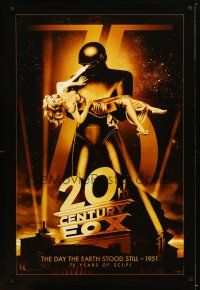 1t002 20TH CENTURY FOX 75TH ANNIVERSARY commercial poster '10 The Day The Earth Stood Still!