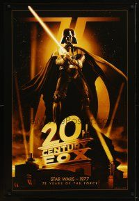 1t001 20TH CENTURY FOX 75TH ANNIVERSARY commercial poster '10 image of Darth Vader, Star Wars!