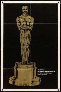 1w016 41ST ANNUAL ACADEMY AWARDS TV 1sh '69 cool image of Oscar statue!