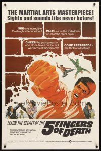 1w017 5 FINGERS OF DEATH 1sh '73 martial arts masterpiece with sights & sounds like never before!