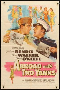 1w025 ABROAD WITH 2 YANKS 1sh '44 Marines William Bendix & Dennis O'Keefe lust after Helen Walker!