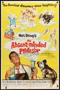 1w026 ABSENT-MINDED PROFESSOR 1sh R74 Walt Disney, Flubber, Fred MacMurray in title role!