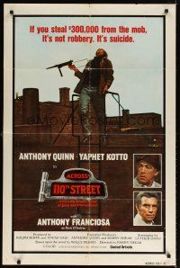 1w029 ACROSS 110th STREET int'l 1sh '72 Anthony Quinn, Tony Franciosa, different image!