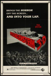 1w048 ANDY WARHOL'S FRANKENSTEIN 1sh R80s Joe Dallessandro, directed by Paul Morrissey!