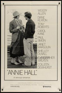 1w054 ANNIE HALL 1sh '77 full-length Woody Allen & Diane Keaton in a nervous romance!