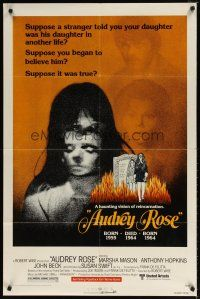1w068 AUDREY ROSE 1sh '77 Susan Swift, Anthony Hopkins, a haunting vision of reincarnation!