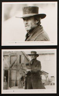 1x068 PALE RIDER presskit w/ 14 stills '85 great images of tough cowboy Clint Eastwood!