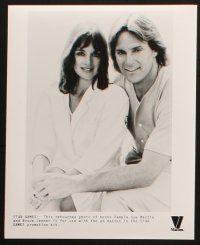1x004 STAR GAMES TV presskit w/ 26 stills '85 cool sports images of Bruce Jenner, Pam Sue Martin!