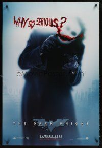 2b218 DARK KNIGHT teaser DS 1sh '08 Heath Ledger as the Joker, why so serious?