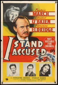2d135 ACT OF MURDER Aust 1sh '48 different stone litho of Fredric March, O'Brien & Eldridge!