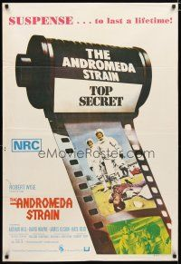 2d136 ANDROMEDA STRAIN Aust 1sh '71 Michael Crichton novel, Robert Wise directed, Arthur Hill