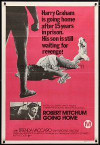 2d168 GOING HOME Aust 1sh '71 ex-con Robert Mitchum's son wants to see him hang!