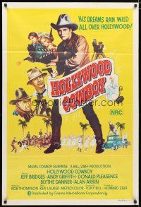 2d173 HEARTS OF THE WEST Aust 1sh '75 different art of Hollywood Cowboy Jeff Bridges!