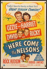 2d174 HERE COME THE NELSONS Aust 1sh '51 Ozzie, Harriet, Ricky, David & Rock Hudson too!